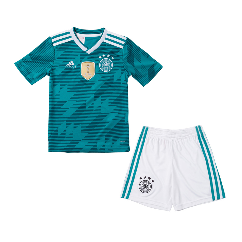 63f3215b193d Germany 2018 World Cup Away Kids Soccer Kit Children Shirt And Shorts