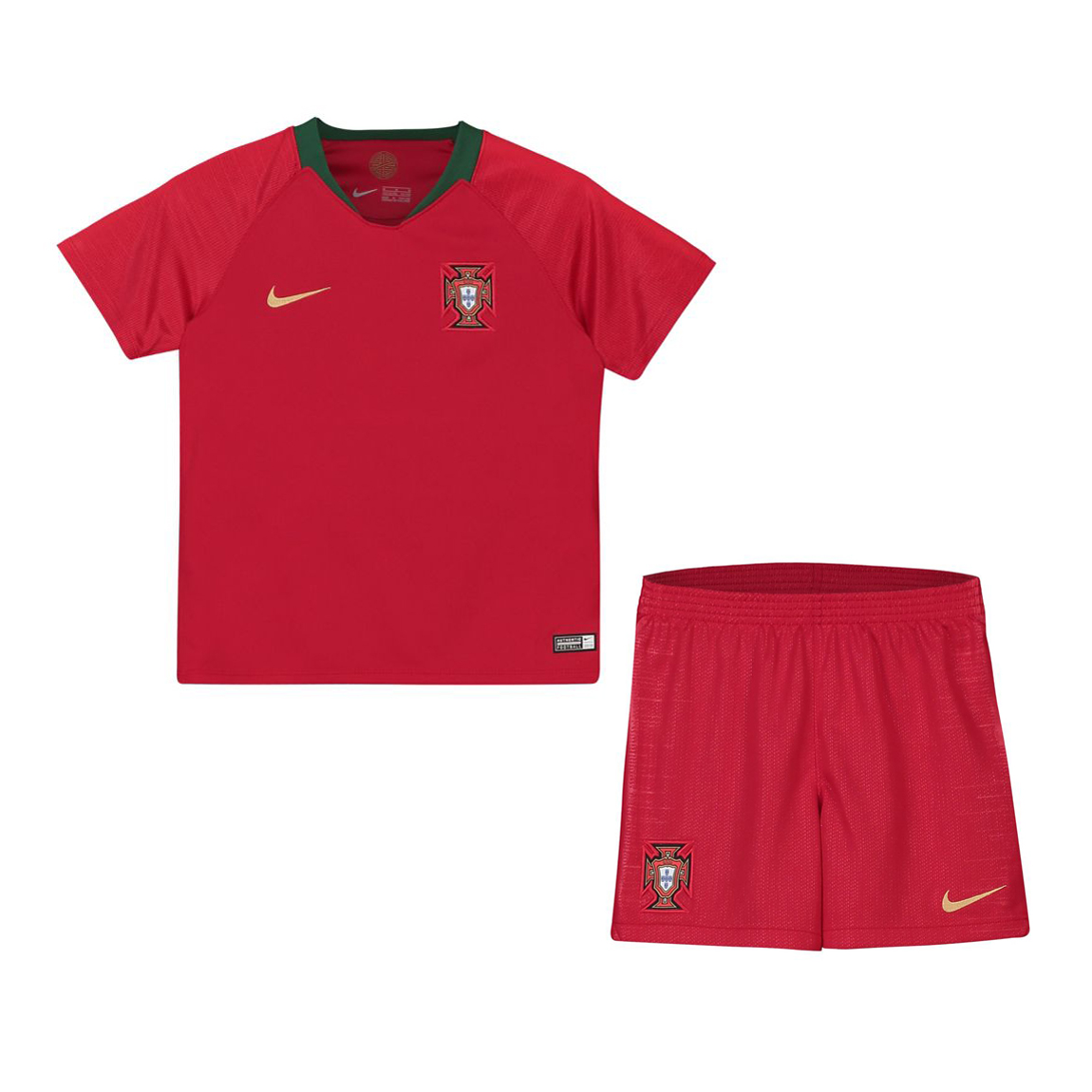 Portugal 2018 FIFA World Cup Home Kids Soccer Kit Children Shirt And Shorts