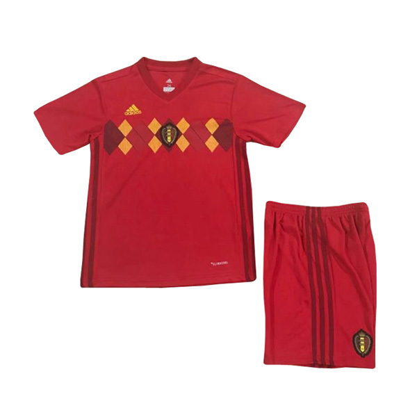 Belgium 2018 World Cup Home Kids Soccer Kit Children Shirt And Shorts