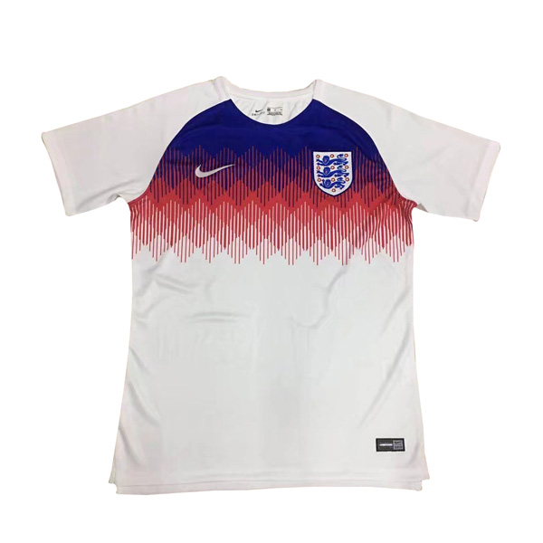 England 2018 World Cup Pre-Match White Shirt Soccer Jersey