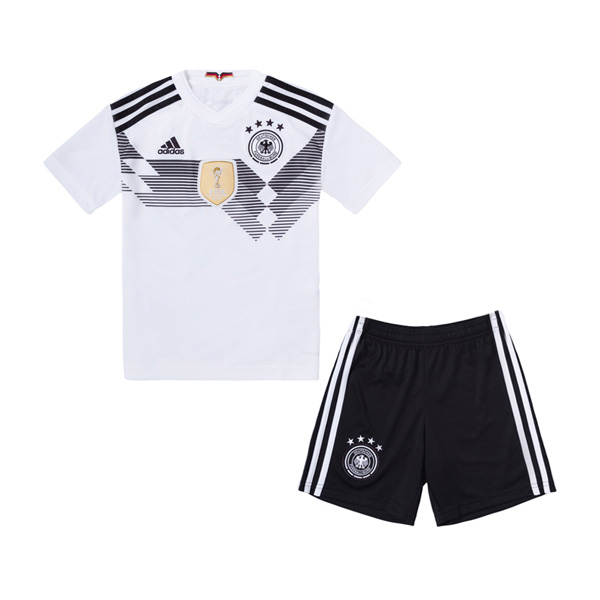 d26d9f320c7 Germany 2018 World Cup Home Kids Soccer Kit Children Shirt And Shorts