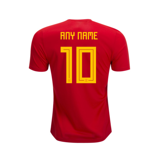 Spain 2018 World Cup Home Shirt Soccer Jersey