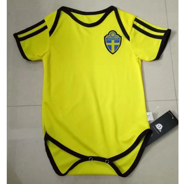 Sweden 2018 World Cup Home Infant Shirt Soccer Jersey Little Kids